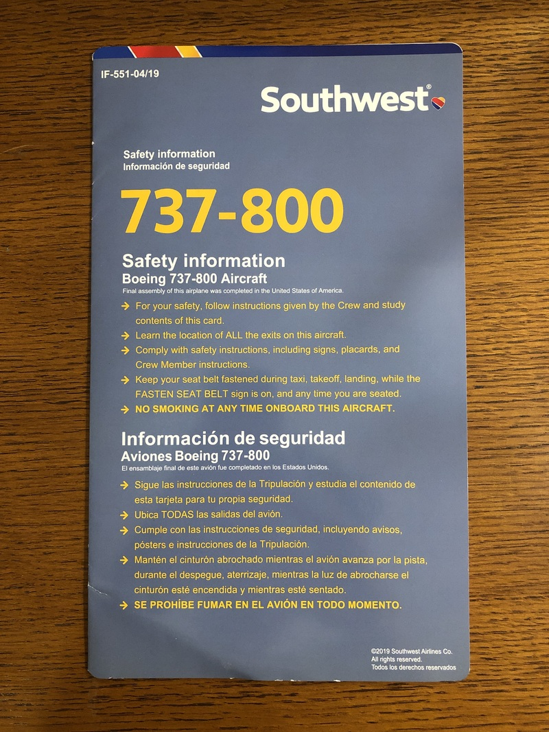 Southwest boeing 737 800 0419 medium